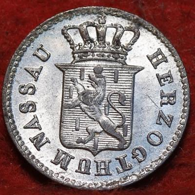1835 German State Nassau 1 Kreuzer Foreign Coin