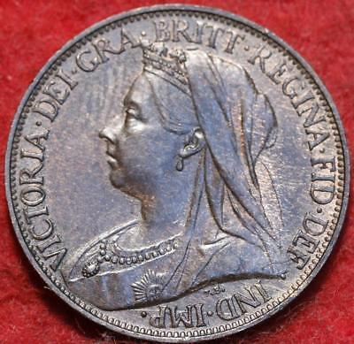 Uncirculated 1896 Great Britain Farthing Foreign Coin