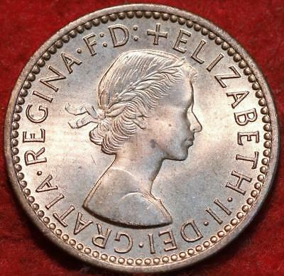 Uncirculated Red 1956 Great Britain Farthing Foreign Coin