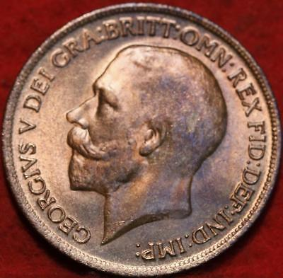 Uncirculated Red 1919 Great Britain Penny Foreign Coin