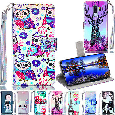 Luxury Flip PU Leather Cover Wallet Kickstand Case For Huawei  Honor LG Xiaomi