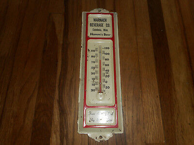 Vintage Caledonia MN Marnach Beverage Co Hamm's Beer Advertising Thermometer
