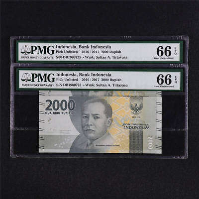 2016 / 2017 Indonesia Bank Indonesia 2000 Rupiah Pick Unlisted PMG 66 EPQ UNC 2P