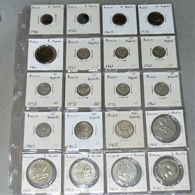 Russia-CCCP Lot of 20 Coins