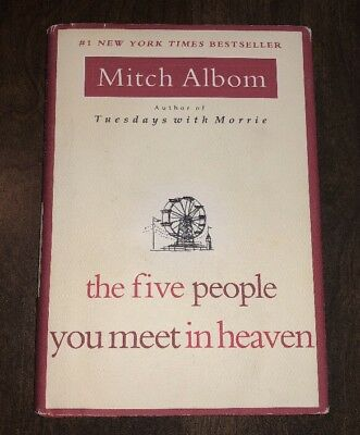 Book: The Five People You Meet in Heaven small hardback hardcover HC GUC