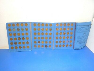 Whitman 9030 Lincoln Head Cents Coin Album,Lot of 89 Pennies,See Below for Years