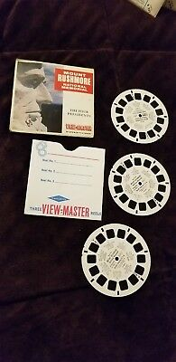 Mount Rushmore Vintage View-Master Reel Pack A487 Sawyers