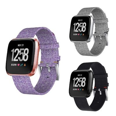 Woven Fabric Replacement Wristband Strap Watch Band For Fitbit Versa Smartwatch