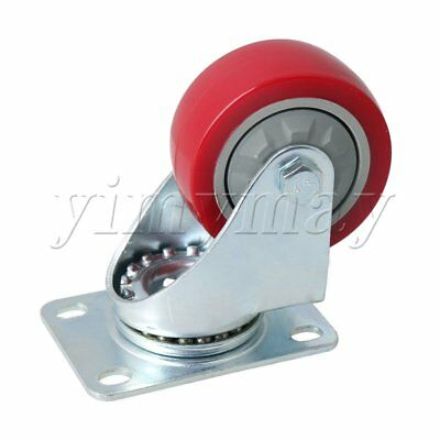 10.5cm Height Metal Double Axis Flatbed Truck Trolley Casters Wheel