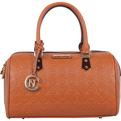 Nicole Lee Yasmin Engraved Boston Shoulder Bag 4 Colors