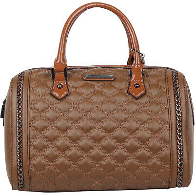 Nicole Lee Adria Quilted Boston Shoulder Bag 2 Colors