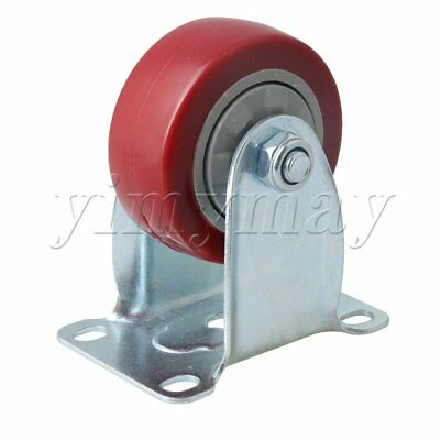 102mm Height Red Metal Single Axis Trolley Flatbed Truck Directional Casters