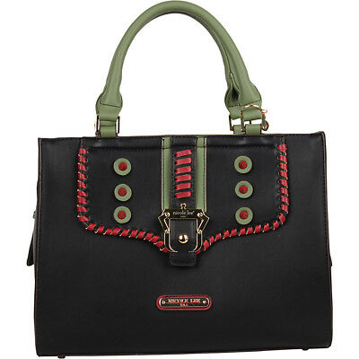 Nicole Lee Eleri Buckle Satchel - Black