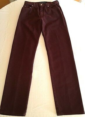 GUESS USA Men's Jeans Vintage 31x34 Style 001 Straight Leg Classic Burgundy Red