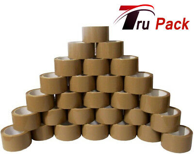 72x ROLLS OF BROWN CELLOTAPE PACKAGING PARCEL WAREHOUSE HOME TAPE 48mm x 66m