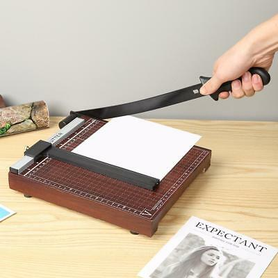 Wood Base B5 Paper Guillotine Cutter Trimmer Home Office Paper Photo Cutter