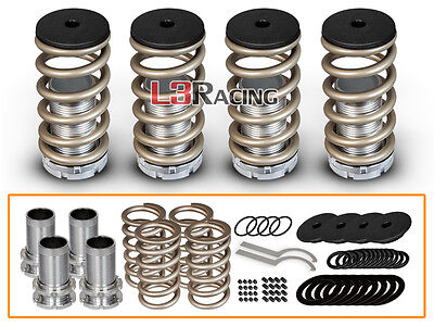 For 98-02 Honda Accord COILOVER LOWERING COIL SPRINGS KIT GOLD