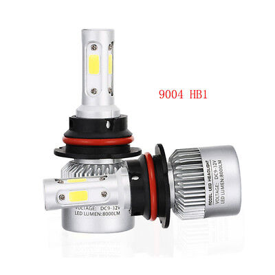 9004 HB1 LED Headlight Kit 72W 8000LM 4sides Conversion Light 6000K Bulbs White
