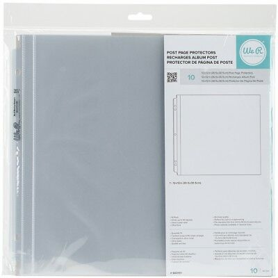 """We R Post Bound Photo Sleeves 12""""x12"""" 10/pkg-full Page"""