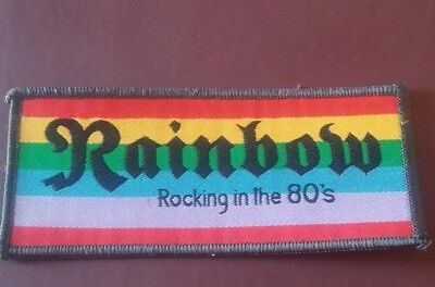 rainbow rocking in the 80s patch