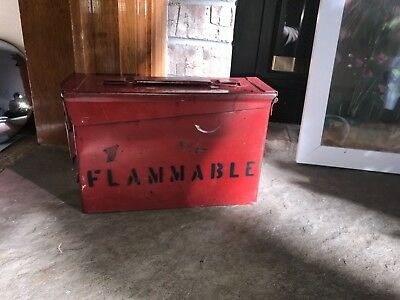 Railroad Flare Box Steel Unrestored Antique Vintage Portion of Procceds Charity