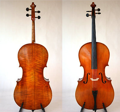 Master Cello Amazing Sound Broad Flame Back Antiqued Oil Varnish