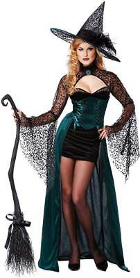 Sexy Enchantress Witch Sorceress Deluxe Costume Halloween Outfit Adult Women