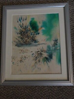 Abstract -  ink on cartridge paper. Framed. Signed