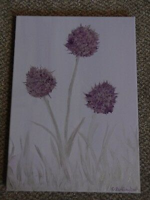ALLIUM -  mixed media painting on canvas. Artist own work signed