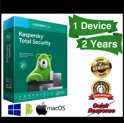 Kaspersky Total Security 2019 1 Device 2 Years | PC | MAC | Android