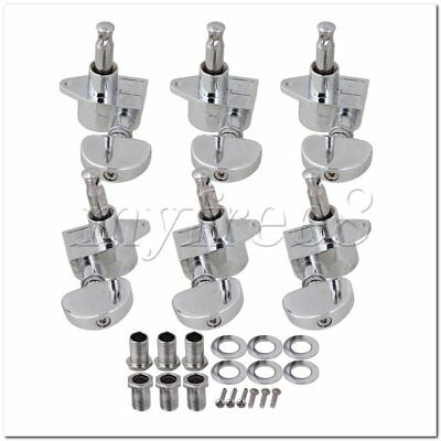 6Pieces Chrome Electric Guitar Machine Head Tuners 3R3L for Guitar Bass