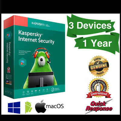 Kaspersky Internet Security 2019 3 Devices 1 Year For Windows PC