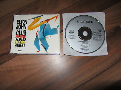 ELTON JOHN Club At The End Of The Street OOP 1990 GERMANY CD single live track