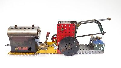Meccano Static Live Steam Engine With Hacksaw