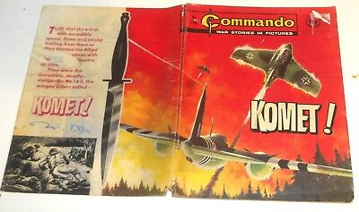 #714 Commando Picture Library Comics ~ KOMET! ~ 1972 - Good Condition