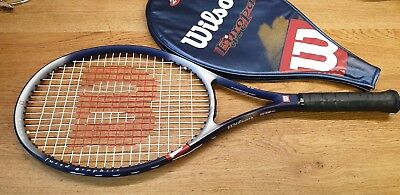 WILSON Europa Comp graphite tennis racket with case