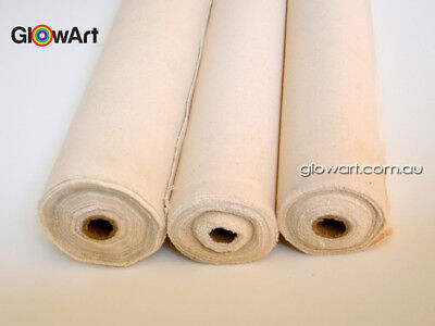 12 oz Artist Quality Triple Primed Pure Cotton Canvas Roll 10 and 25 mtr 570 Gsm