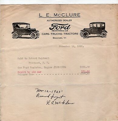 1925 Ford Dealership Illustrated Letter Head