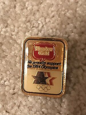 Six (6) Meadow Gold 1984 Olympic Pins