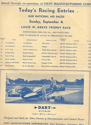 1938 National Air Races Poster