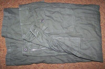 Fatigue Pants, Zipper-Fly, Od Green, Size 30 X 31, 1969, U.s. Issue *nice*