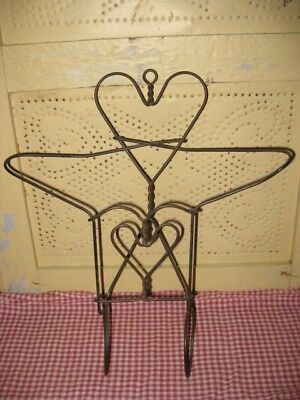 Primitive heart wire kitchen pantry  pieces for valentines day *  5 pieces