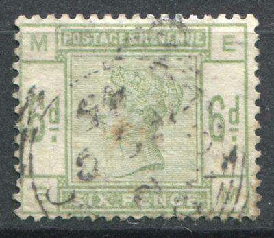 (314) VERY GOOD VERY LIGHTLY USED SG194 QV 6d DULL GREEN