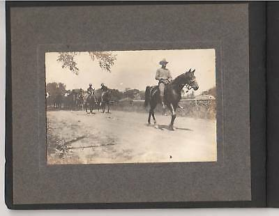 Original ca 1910s US Army Artillery Soldiers, Caissons & Camp Photo Album