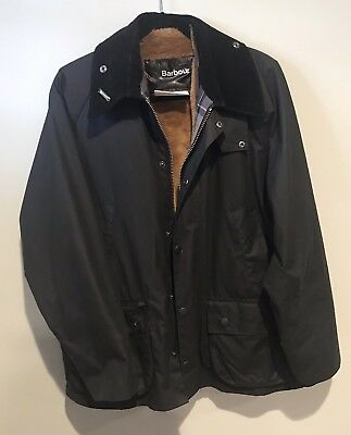 Barbour Classic Lined Bedale Men's Black Jacket - Size 40