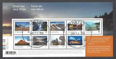 2019 From Far and Wide Souvenir Sheet of 9 First Day Cancel