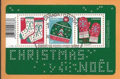 2018 Christmas:  Warm and Cozy Souvenir Sheet First Day Cancel