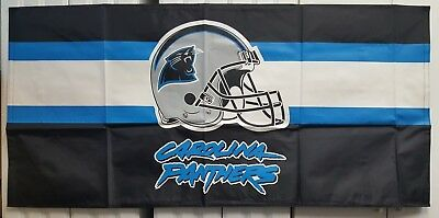 """Nfl Football Carolina Panthers 53X26"""" Banner/table Cover New In Pkg. Lot (10)"""