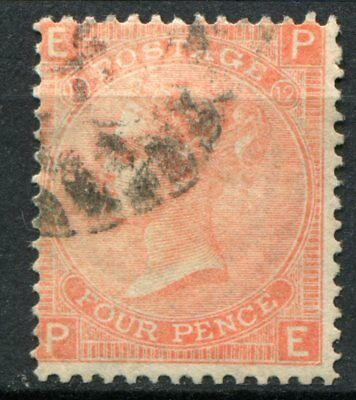(340) VERY GOOD LIGHTLY USED SG93 QV 4d DULL VERMILION PLATE 12