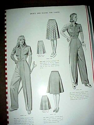 1940s WWII ERA, CLOTHING ADVERTISING CATALOGUE, WORK WEAR & DRESS CLOTHS PATTERN